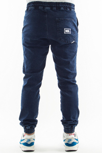 NEW BAD LINE SPODNIE JEANS JOGGER ICON NAVY