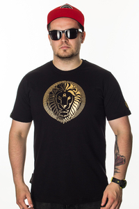 GANJA MAFIA T-SHIRT KA'LION 5050 BLACK-GOLD