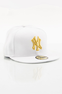 NEW ERA FULLCAP NY WHITE-GOLD