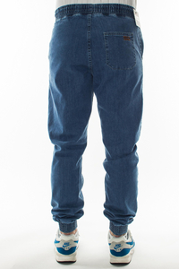 SMOKE STORY GROUP JOGGERY SLIM JEANS HAFT LIGHT BLUE
