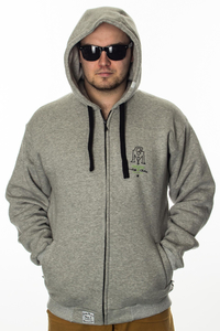 GANJA MAFIA BLUZA ZIP HERB GREY-BLACK