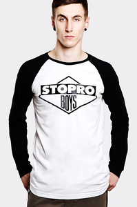 STOPROCENT LONGSLEEVE LS STOPROBOYS WHITE-BLACK