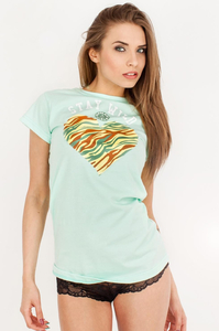EP.GIRLS T-SHIRT STAY WILD MINT