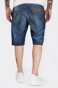 STOPROCENT SPODENKI SJK STAMP SHORTS JEANS BLUE