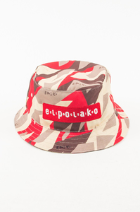 EL POLAKO KAPELUSZ BUCKET HAT TRIANGLE MORO RED