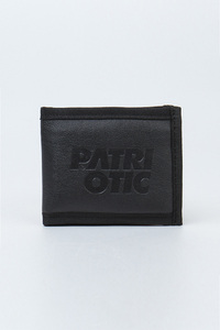 PATRIOTIC PORTFEL CLS LEATHER STAMP2 BLACK