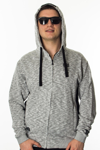 GANJA MAFIA BLUZA ZIP HERB NEW GREY/BLACK