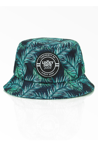 LUCKY DICE BUCKET HAT SUMMER GREEN-LEAVES