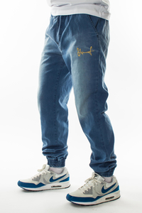 STOPROCENT JOGGERY JEANS BLUE-GOLD