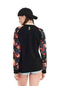LUCKY DICE BLUZA REGLAN FLOWERS BLACK