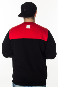 EL POLAKO BLUZA THREE COLORS BLACK-RED