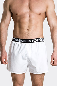 STOPROCENT BOKSERKI BAGGY WHITE