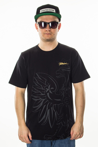 PATRIOTIC T-SHIRT EAGLY SHADOW BLACK