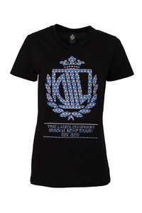 LADY DIIL T-SHIRT LD PATTERN BLACK