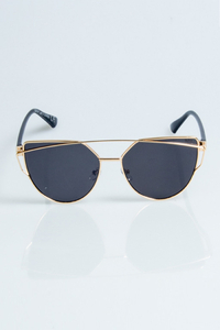 NEW BAD LINE OKULARY QUEEN LADY GOLD-BLACK METAL BLACK 1082