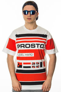 PROSTO T-SHIRT YACHT STRIPES WHITE