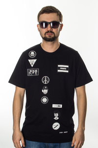 PROSTO T-SHIRT CLOCKWORK SLIDE BLACK