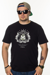 GANJA MAFIA T-SHIRT HERB BLACK-WHITE