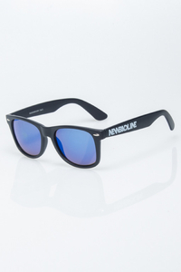 NEW BAD LINE OKULARY CLASSIC BLACK MAT BLUE MIRROR 1218