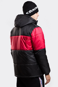 STOPROCENT KURTKA ZIMOWA KZ PUFFER SLICE BLACK/RED