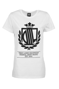 LADY DIIL T-SHIRT LD HARVARD WHITE-BLACK