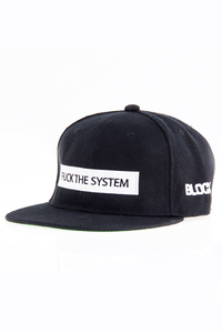 BLOCX SNAPBACK FUCK THE SYSTEM BLACK