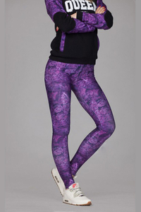 GANJA MAFIA LEGGINSY CANNABIS QUEEN PURPLE