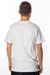 CHADA T-SHIRT SCRAP WHITE-RED