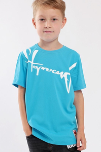 STOPROCENT KIDT T-SHIRT DOWNHILL BLUE