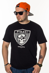 GANJA MAFIA T-SHIRT PIRACI BLACK-WHITE