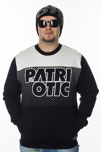 PATRIOTIC BLUZA CLS FD BLACK-WHITE