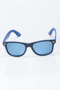 NEW BAD LINE OKULARY CLASSIC INSIDE BLACK-BLUE MAT BLUE MIRROR POLARIZED 1186