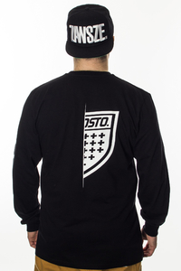 PROSTO KLASYK LONGSLEEVE ON HALF BLACK