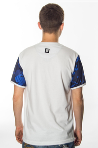 STREET AUTONOMY T-SHIRT CAMO BLUE ARM WHITE
