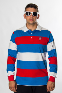 PROSTO KLASYK POLO LONG HAKA BLUE
