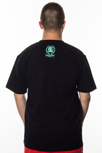 DIIL T-SHIRT LAUR BLACK-MINT