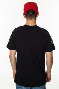 PATRIOTIC T-SHIRT SHOULDER BLACK-RED