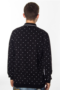 PATRIOTIC POLO LONG CLS DOTS BLACK