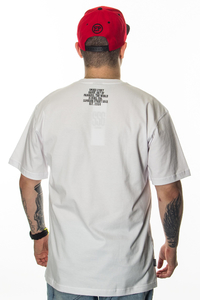 SMOKE STORY GROUP T-SHIRT MORO LINE WHITE