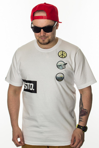 PROSTO T-SHIRT PATCHES ACID WHITE