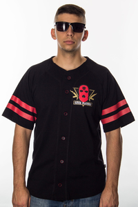 GANG ALBANII T-SHIRT BASEBALL BLACK