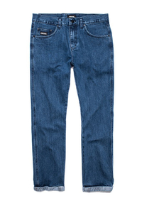 PROSTO SPODNIE JEANS REGULAR PIN ROLL BLUE