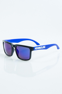 NEW BAD LINE OKULARY CLASSIC MODERN BLACK-BLUE MAT BLUE MIRROR 1063