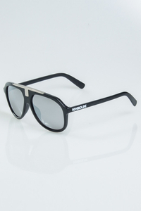 NEW BAD LINE OKULARY HARD BLACK-SILVER METAL MAT SILVER MIRROR 1147