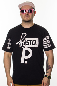 PROSTO T-SHIRT CUT ACID BLACK