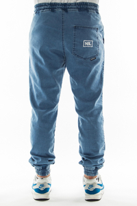NEW BAD LINE SPODNIE JEANS JOGGER ICON LIGHT BLUE