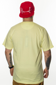 PROSTO T-SHIRT PEACE ACID YELLOW