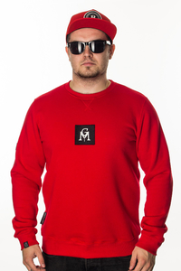 GANJA MAFIA BLUZA GM BOX LOGO RED-BLACK