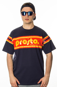 PROSTO T-SHIRT SUPPORT STRIPES NAVY