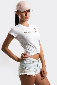 STOPROCENT T-SHIRT DAMSKI TDS CUTTAG WHITE